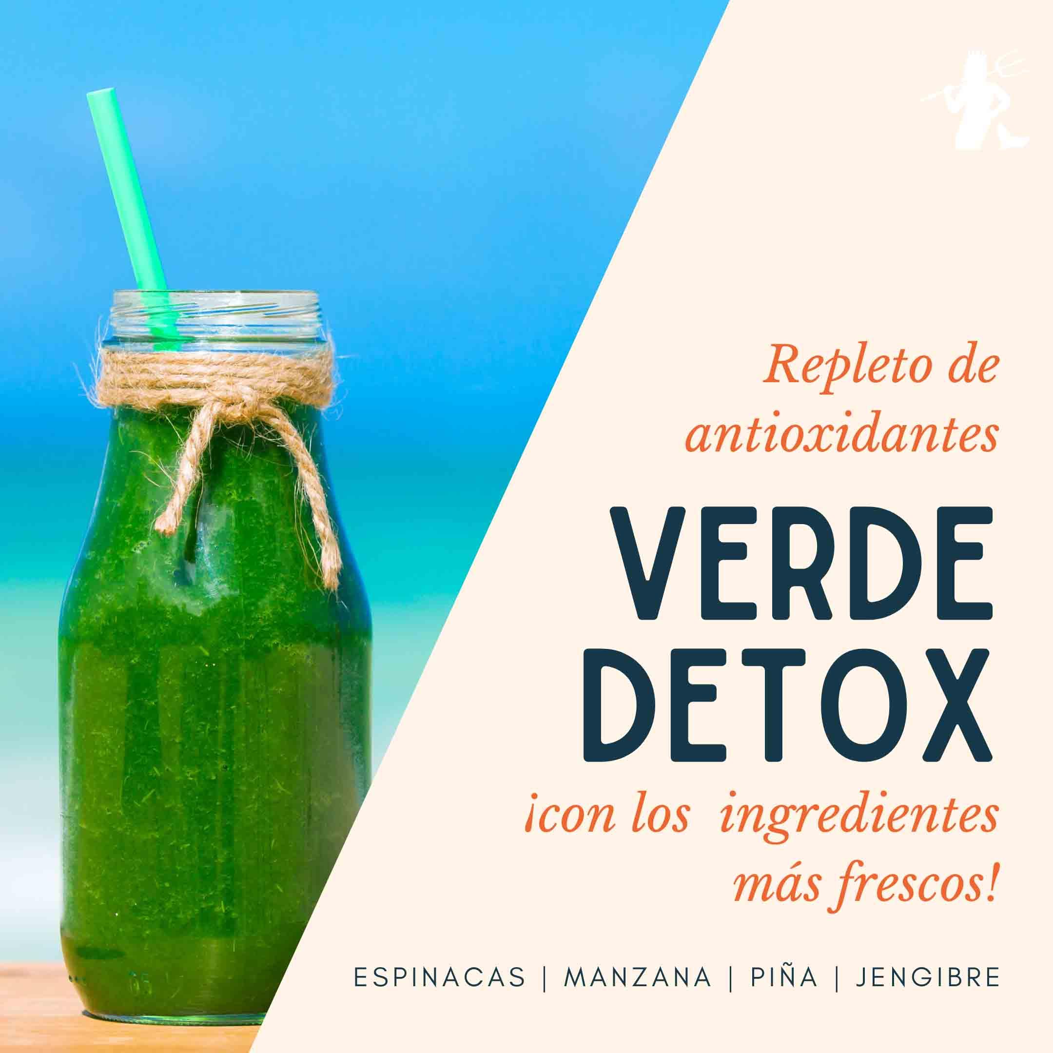 zumo verde detox Restaurante Neptuno Mojácar