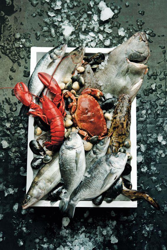 pescado fresco y sardinas